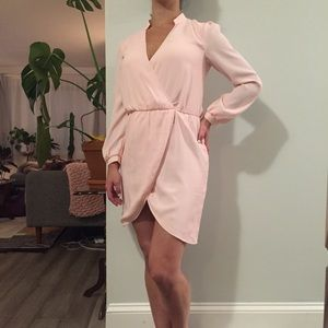 TOBI Pink Long Sleeved Short Dress
